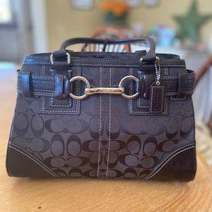 Dark Brown Authentic leather Coach Purse